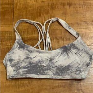 Gray LULULEMON sports bra top size size 6